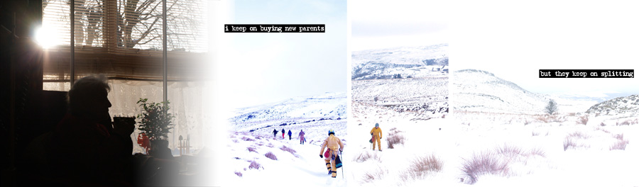 grandma sees a snowy trek